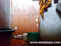 mature indian bhabhi in shower