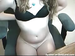 Innocent cutie is rubbing her snatch without showing her face