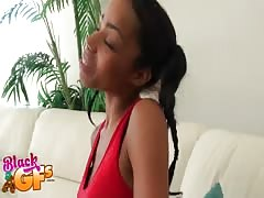 Black Gfs studio presenting nice cock-swallowing ebony girl