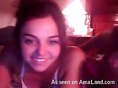 Me and my sexy girlfriend are having hot sex on webcam