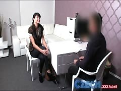 Czech Fashion model milks cock dry in Office