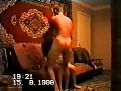 Stunning homemade amateur scene with a threesome russian action