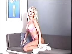 Ultimate amateur wife in white dress looks like a slender stripper