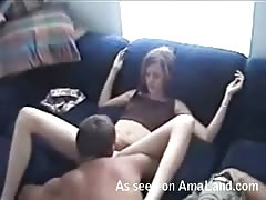 Astonishing skinny slut gf adores to feel tongue in her puss